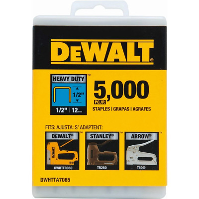 "DEWALT DWHTTA7085 1/2"" Heavy Duty Staples (Pack of 5,000)"