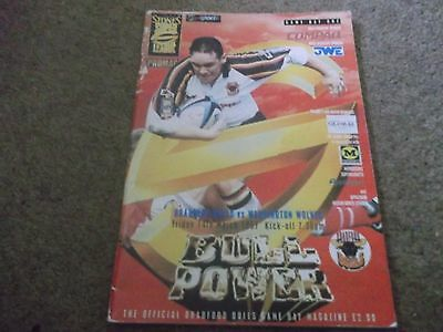 1997 Super League Bradford Bulls V Warrington Wolves 14Th March 1997
