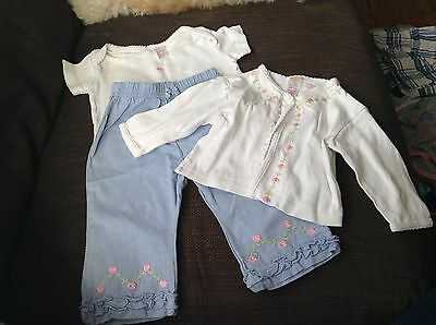 Baby girls three piece outfit age 3-6 months