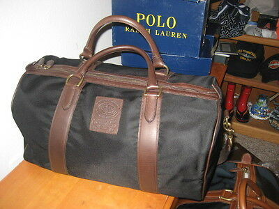 NEW  Polo Ralph Lauren Duffle Overnight Travel Gym Canvas Bag - BLACK