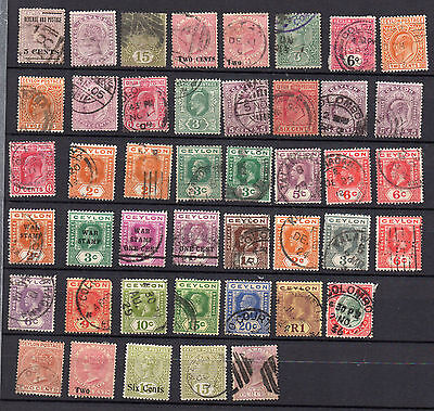 CEYLON QV to KGV 59 DIFFERENT MINT HINGED / USED  STAMPS