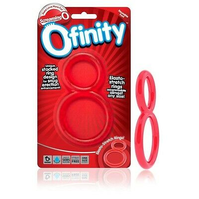 Screaning O Ofinity Anillo Doble Rojo