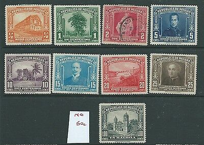 Panama 1936 Postal Congress Part Set Mh Used