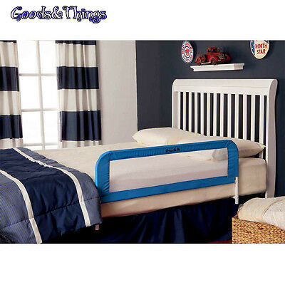 Safety Bed Rail Toddler Kids Swing Down Adjustable Twin Bedrail Mesh Security