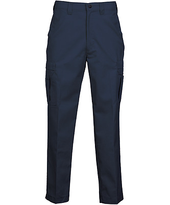 Work Uniform Industrial CARGO Pants w/ FLEX Waist (by REED Co) Navy Blue (65/35)