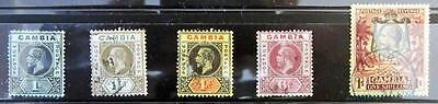 Gambia Selection Of Used Kgv Definitives To 1/- **see Scans**