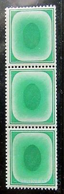 """Gb """"poached Eggs"""" Post Office Training Stamps Mnh Strip Of 3 **see Scans**"""