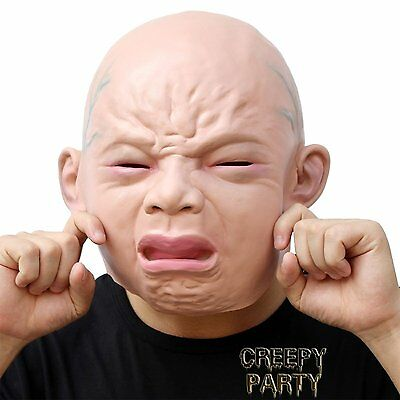 Halloween Horror Prop  Baby Crying Mask  Crying Mask Scary Fancy Dress Costume