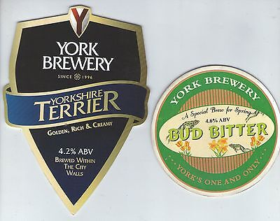 2 York Brewery Pump Clip Fronts (Lot 3)
