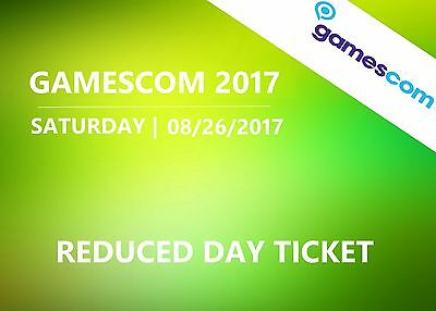 GAMESCOM 2017 - Saturday 08/26/2017 - Day ticket (reduced) - Cologne Germany