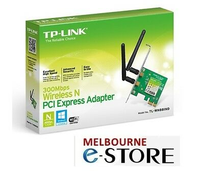 TP-Link TL-WN881ND N300 Wireless N PCI Express Wifi Card Desktop PC 2 x Antenna