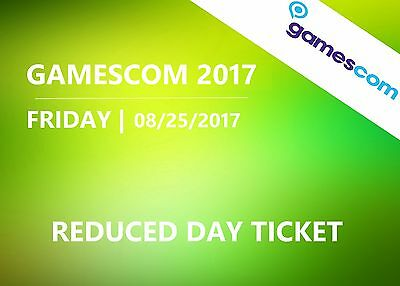 GAMESCOM 2017 - Friday 08/25/2017 - Day ticket (reduced) - Cologne Germany