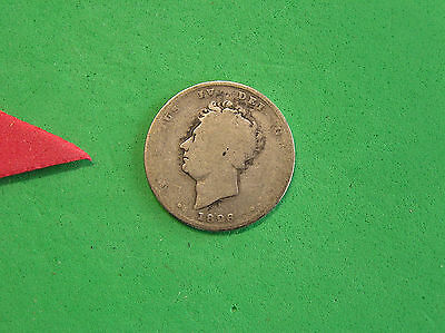 L-too: 1826 GREAT BRITAIN 1 SHILLING ~~ KING GEORGE IV ~~ SHORT SERIES, TOUGH