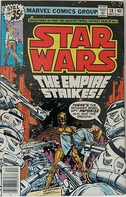 MARVEL COMICS STAR WARS #18 1980's FREE P&P RARE BARGAIN WHEN ITS GONE ITS GONE