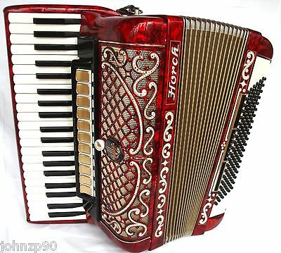 #163 Accordion HORCH DE LUXE Very Beautiful German 120 bass EXCELLENT CONDITION