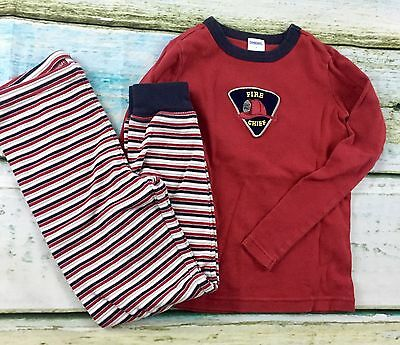 Boys Gymboree 2 piece pajama Long Sleeves and Pants Set Fire Chief Size 7