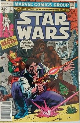 MARVEL COMICS STAR WARS # 7 1980's FREE P&P RARE BARGAIN WHEN ITS GONE ITS GONE