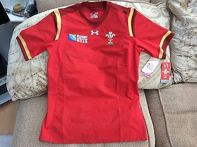 Under Armour Wales Rugby World Cup 2015 Home Shirt Size XL Brand New With Tags