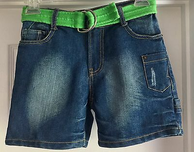 """Girls NWT Blue Jean Shorts Sz 8 With 5"""" Inseam Route 66 Brand"""