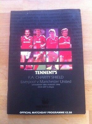 Tennent's F.a. Charity Shield Liverpool & Manchester United 1990