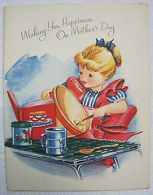 1950's Mother's Day Card Unused