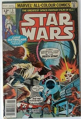 MARVEL COMICS STAR WARS # 5 1980's FREE P&P RARE BARGAIN WHEN ITS GONE ITS GONE