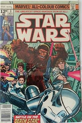 MARVEL COMICS STAR WARS # 3 1980's FREE P&P RARE BARGAIN WHEN ITS GONE ITS GONE