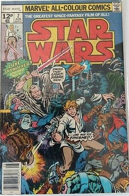 MARVEL COMICS STAR WARS # 2 1980's FREE P&P RARE BARGAIN WHEN ITS GONE ITS GONE