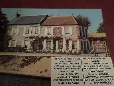 Postcard Pegasus Bridge France First House To Be Liberated 2nd World War