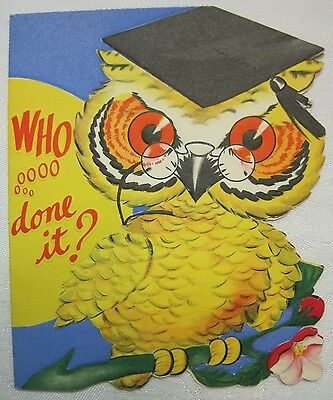 1950's Graduation Card Unused Greetings Inc. Brand Card