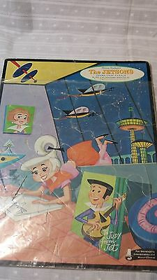 Vintage 60s JETSONS Judy Jet FRAME tray PUZZLE #4423 large WHITMAN spaceships