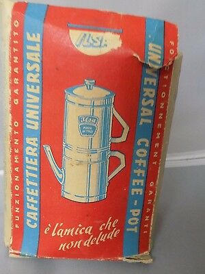 "Ilsa Universal Coffee-Pot Caffettiera Universale Boxed Pamphlet (approx 7"" tall)"