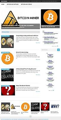 *bit Coin* Help Website Business For Sale! Mobile Friendly Design