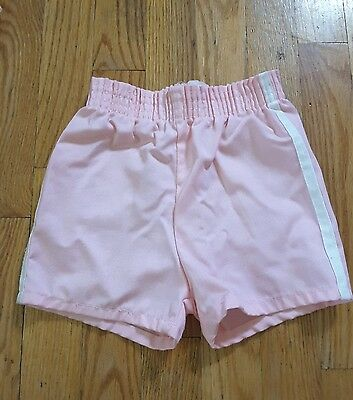 Vintage Girls Sears Pink Gym Style shorts size 4 years USA made