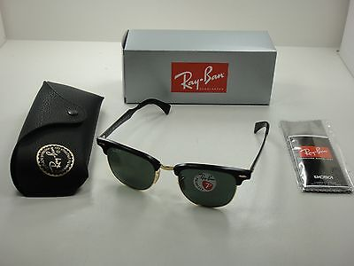 c810b5deb3 Ray-Ban Clubmaster Aluminum Polarized Sunglasses Rb3507 136 n5 Black green  51Mm