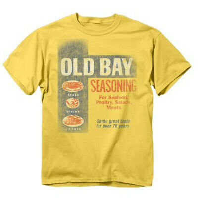 021fac7a86f Old Bay Washed Can Art T-Shirt Seafood Seasoning Spice Rub Crab Adult Mens