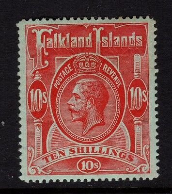 Falklands Island 1914 Sg 68 10/- Red/Green  - Unmounted mint