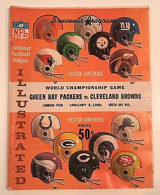 VERY RARE 1966 WORLD CHAMPIONSHIP Packers vs Browns Program- NFL Illustrated