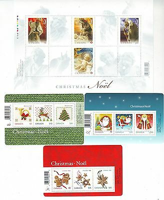 Bengphil Canada Lot of 4 Christmas mini-sheets face value no tax free shipping