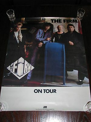 "Jimmy Page The Firm 1986 Original Tour Poster 27"" x 21"""
