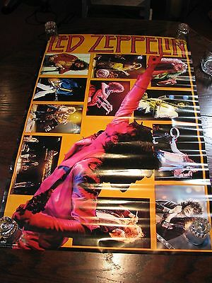 "Led Zeppelin Collage Poster - New Condition 1982 - 36""x24"""