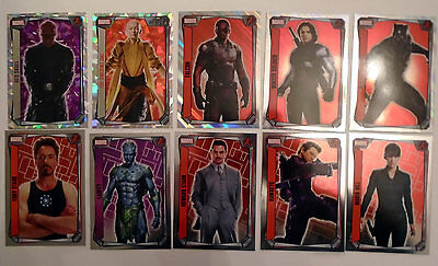 Topps Marvel Missions: Hero Attax - 10x Mirrior, Holo & Super Holo Foil Cards