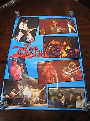 "Led Zeppelin Collage Poster –   34.5"" x 23.5"" New Condition 1987"