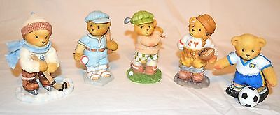 Cherished Teddies Sports Collection -Hockey,Baseball,Golf,Football, Soccer Bears