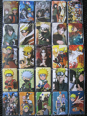 #2 Naruto Shippuden Anime / Manga Holographic Stickers  (  Set of 25 )