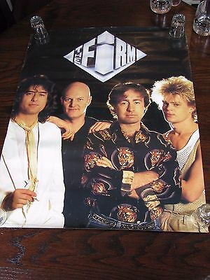 "Jimmy Page The Firm 1985 Original Promo Poster Atlantic Records 30.75"" x 24"""