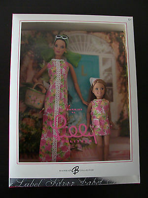 Barbie Lilly Pulitzer and Stacie Doll Gift Set Silver Label Brand New NRFB