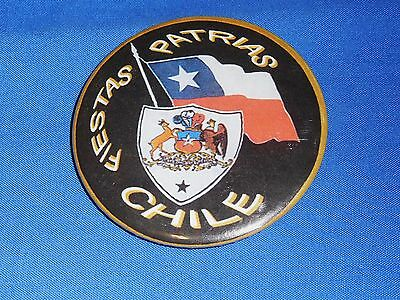 Tin Badge Pin 5.5 cm Button Chile Fiestas Patrias Chile's National Independence