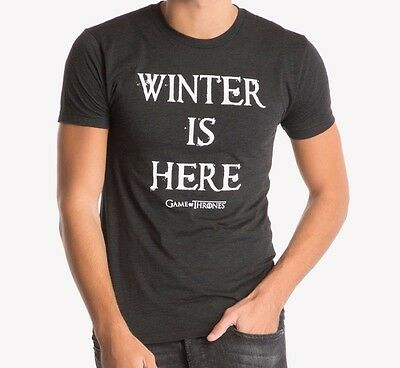 Game Of Thrones WINTER IS HERE T-Shirt NWT Licensed & Official