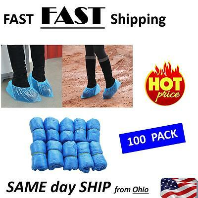 100PCS Medical Waterproof Covers Plastic Disposable Shoe Covers Overshoes